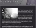 Monica Paul Bio by Casandra Armour