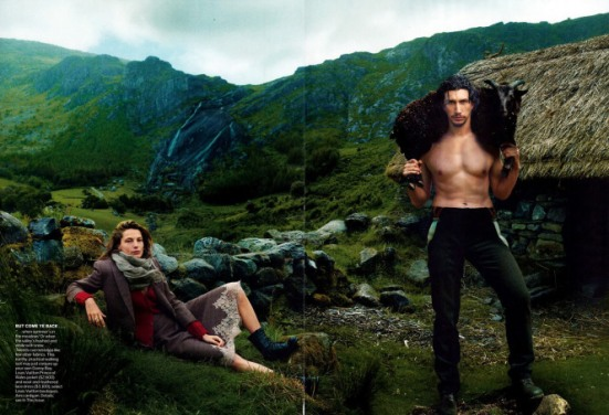 """Girls"" Star Adam Driver's Sexy Snaps In September Vogue + Gap Ads"