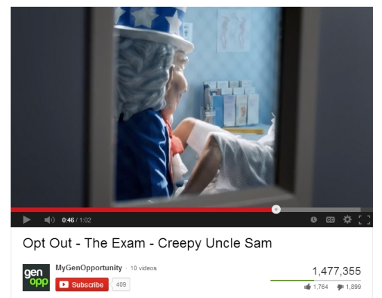 Koch Brother's Anti-Obamacare Propaganda Vid Victimizes Women Uncle Sam Rape